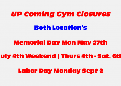 Gym Closures At RMSDF