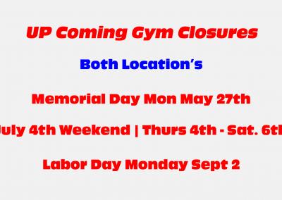 Gym Closures