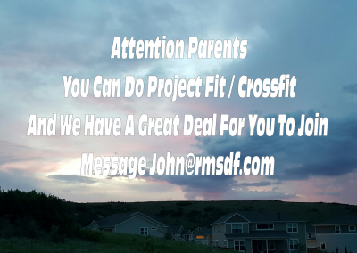 Parents You Can Get Fit At RMSDF