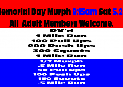 Memorial day Murph at RMSDF