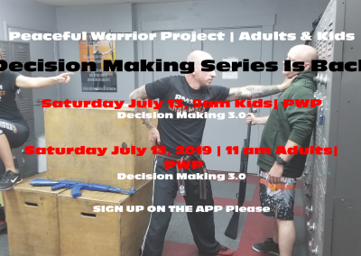 Krav Maga Decision Making Series