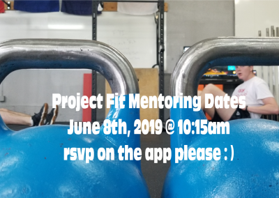 Project Fit Mentoring June 8th 2019